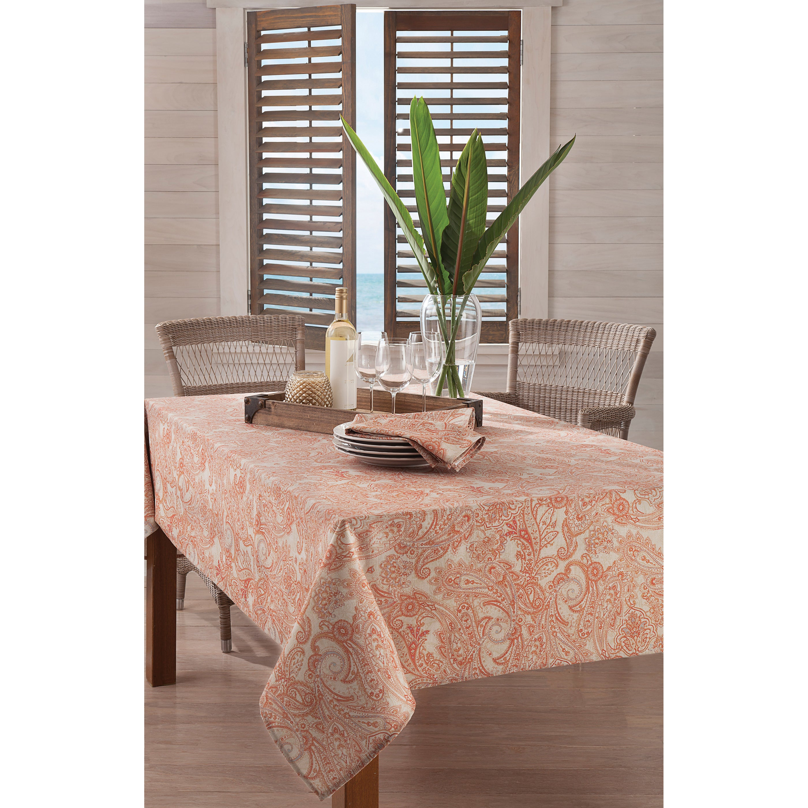 Beau Shop Tommy Bahama East India Paisley Tablecloth   Free Shipping On Orders  Over $45   Overstock.com   11484313