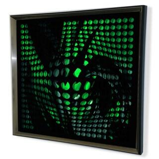 Designart Modern Black Tinted Mirror Green Shade Acrylic Vortex Mirror