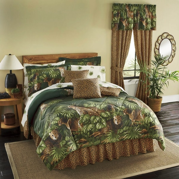 Cheetah 8 Piece Bed In A Bag With Sheet Set Free Shipping Today 11484319