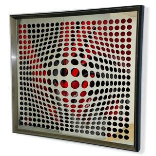Designart Modern Acrylic Mirror Framed Vortex Art
