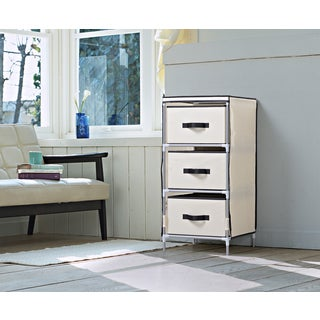 Homestar Beige Fabric 3-drawer Dresser