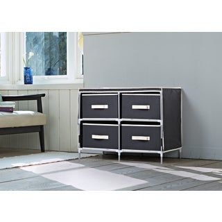Homestar Black Fabric 4-drawer Dresser