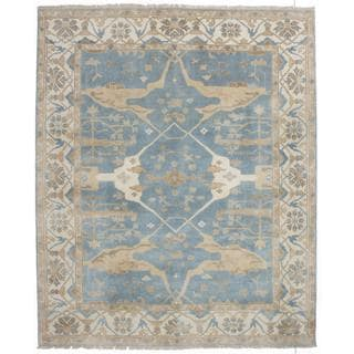 Ecarpetgallery Hand-knotted Royal Ushak Blue Wool Rug (8'1 x 9'10)