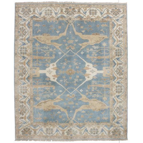 Ecarpetgallery Hand-knotted Royal Ushak Blue Wool Rug (8'1 x 9'10) - 8'1 x 9'10