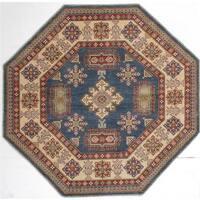 Ecarpetgallery Hand-knotted Finest Gazni Blue Wool Rug (7' x 7')