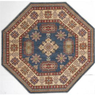 Ecarpetgallery Hand-knotted Finest Gazni Blue Wool Rug (7' x 7')