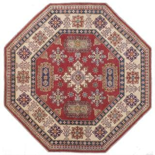 Ecarpetgallery Hand-knotted Finest Gazni Red Wool Rug (7' x 7')