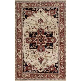 Ecarpetgallery Hand-knotted Serapi Heritage Beige Wool Rug (5'10 x 9')