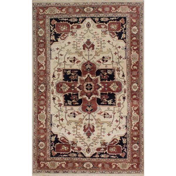 Ecarpetgallery Hand-knotted Serapi Heritage Beige Wool Rug (5'10 x 9')