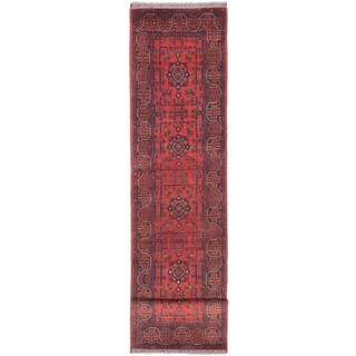 Ecarpetgallery Hand-knotted Finest Khal Mohammadi Brown Wool Runner Rug (2'7 x 12'8)