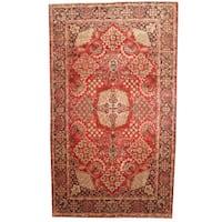 Herat Oriental Persian Hand-knotted 1960s Semi-antique Tabriz Wool Rug (9'5 x 16'4)