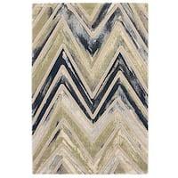 Ecarpetgallery Grey/ Green Abstract Rug (3'11 x 5'7)