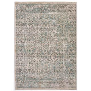 Ecarpetgallery Stella Beige/ Green Polyester Rug (3'11 x 5'7)