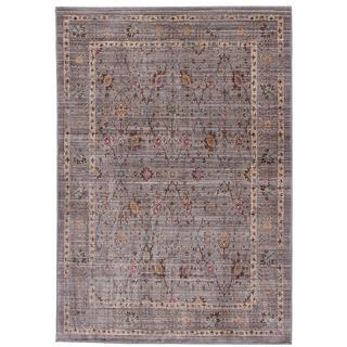 Ecarpetgallery Stella Grey Polyester Rug (3'11 x 5'7)