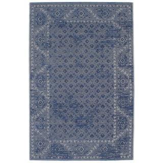 Ecarpetgallery Sapphire Blue/ Grey Rug (4'11 x 7'7)