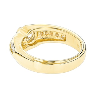 Luxurman 14k Gold 1 1/2ct TDW Solitaire Men's Diamond Ring (H-I, SI1-SI2)