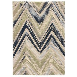 Ecarpetgallery Abstract Grey/ Green Rug