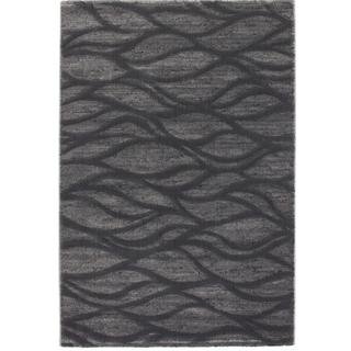 Ecarpetgallery Abstract Grey Rug (5'3 x 7'7)
