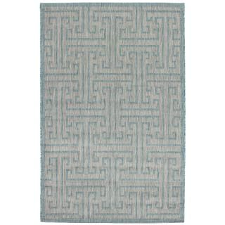 Ecarpetgallery Illusion Blue/ Grey Rug (4'11 x 7'7)