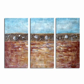 Hand-painted Earth and Sea Abstract Painting 1152