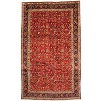 Handmade Herat Oriental Persian 1960s Semi-antique Tabriz Wool Rug (Iran) - 9'6 x 16'
