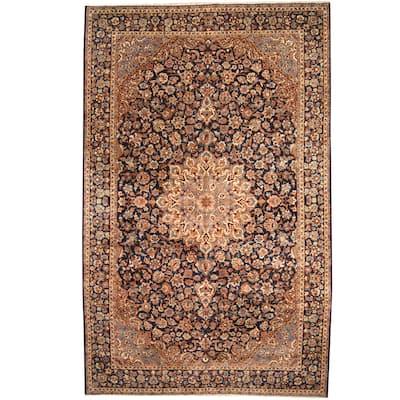 Handmade One-of-a-Kind Isfahan Wool Rug (Iran) - 10' x 15'4