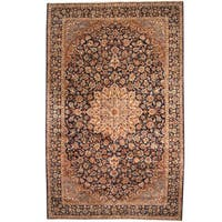 Herat Oriental Persian Hand-knotted 1960s Semi-antique Isfahan Wool Rug (10' x 15'4)