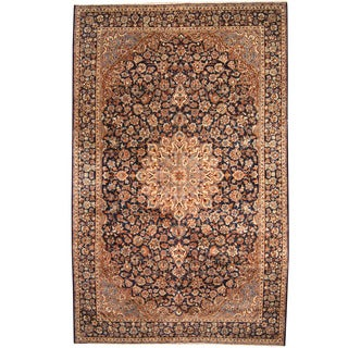 Herat Oriental Persian Hand-knotted 1960s Semi-antique Isfahan Wool Rug (10' x 15'4) - 10' x 15'4
