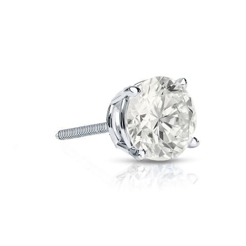 Auriya 1/4ctw Round SINGLE STUD (1) Diamond Earring 14k Gold