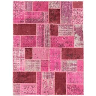 Ecarpetgallery Hand-knotted Color Transition Patch Pink Wool Rug (5'1 x 6'10)
