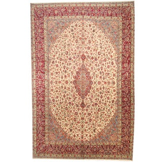 Herat Oriental Persian Hand-knotted 1950s Semi-antique Kerman Wool Rug (10'10 x 16'8)