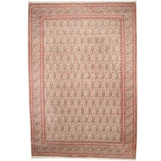 Herat Oriental Persian Hand-knotted 1950s Semi-antique Kerman Wool Rug (11'4 x 16'5)