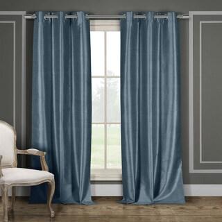 Duck River Faux Silk Blackout Window Curtain Panel Pair (Set of 2)