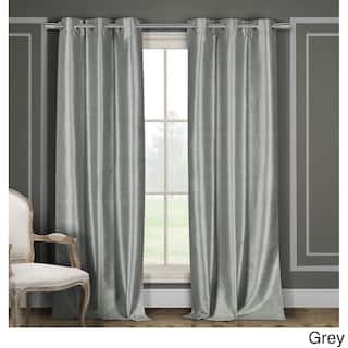Duck River Faux Silk Thermal-Insulated Blackout Window Curtain Panel Pair (Set of 2