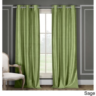 Duck River Faux Silk Thermal-Insulated Blackout Window Curtain Panel Pair (Set of 2)
