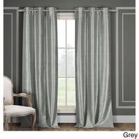 Duck River Faux Silk Blackout Window Curtain Panel Pair (Set of 2)