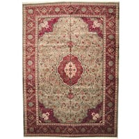 Herat Oriental Persian Hand-knotted 1950s Semi-antique Sarouk Wool Rug - 11'4 x 16'2