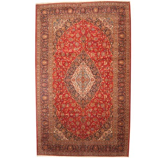 Herat Oriental Persian Hand-knotted 1960s Semi-antique Kashan Wool Rug (10'3 x 16'7)