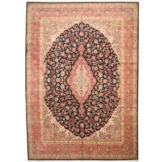 Herat Oriental Persian Hand-knotted 1960s Semi-antique Kerman Wool Rug (11'2 x 15'10)