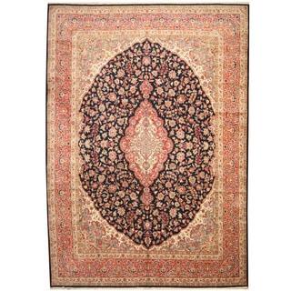 Herat Oriental Persian Hand-knotted 1960s Semi-antique Kerman Wool Rug (11'2 x 15'10)