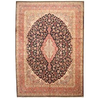 Herat Oriental Persian Hand-knotted 1960s Semi-antique Kerman Wool Rug - 11'2 x 15'10