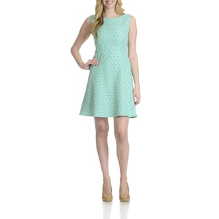Tahari Women's Floral Pattern A-Line Dress