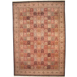 Herat Oriental Persian Hand-knotted 1960s Semi-antique Kerman Wool Rug (12' x 17'5)