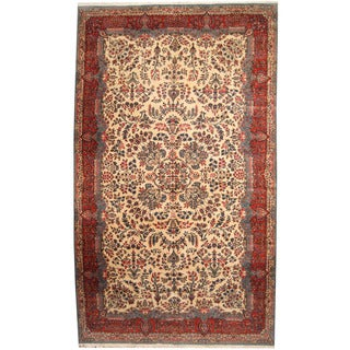 Herat Oriental Persian Hand-knotted 1940s Semi-antique Kerman Wool Rug (10'1 x 17'1)