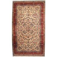 Herat Oriental Persian Hand-knotted 1940s Semi-antique Kerman Wool Rug (10'1 x 17'1) - 10'1 x 17'1