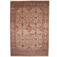Herat Oriental Persian Hand-knotted 1940s Semi-antique Kerman Wool Rug (11'10 x 17'1) - 11'10 x 17'1