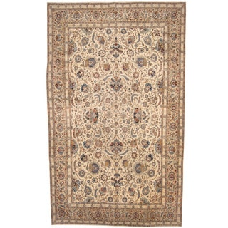 Herat Oriental Persian Hand-knotted 1940s Semi-antique Isfahan Wool Rug (10'2 x 17')