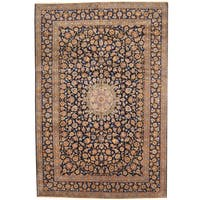 Herat Oriental Persian Hand-knotted 1960s Semi-antique Kashan Wool Rug (10' x 14'10) - 10' x 14'10