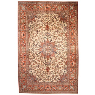 Herat Oriental Persian Hand-knotted 1960s Semi-antique Isfahan Wool Rug (10'10 x 16'8)