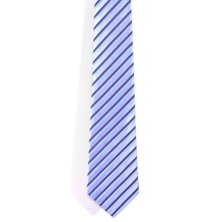 Davidoff 100-percent Silk Lavender/ Black Stripes Neck Tie